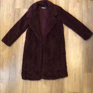 TULAROSA Merlot Shag Jacket